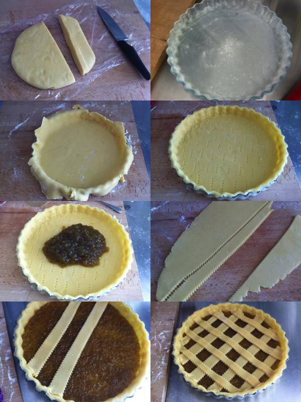 montage tarte confiture