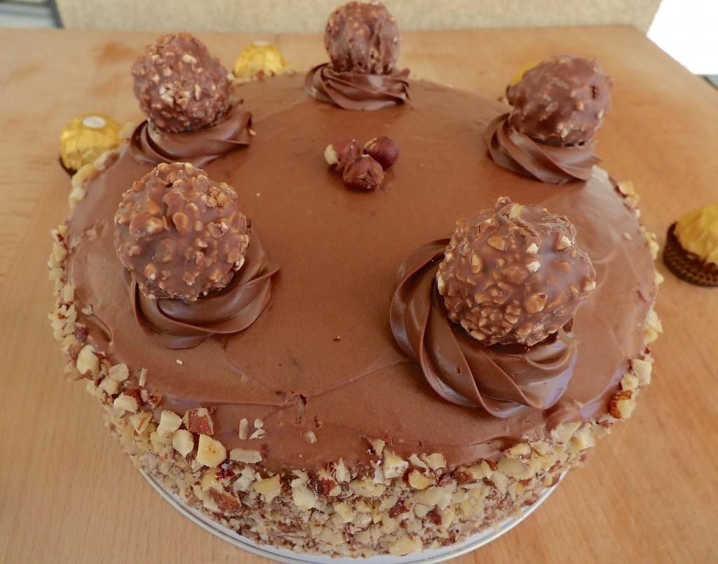 Ferrero Rocher cake