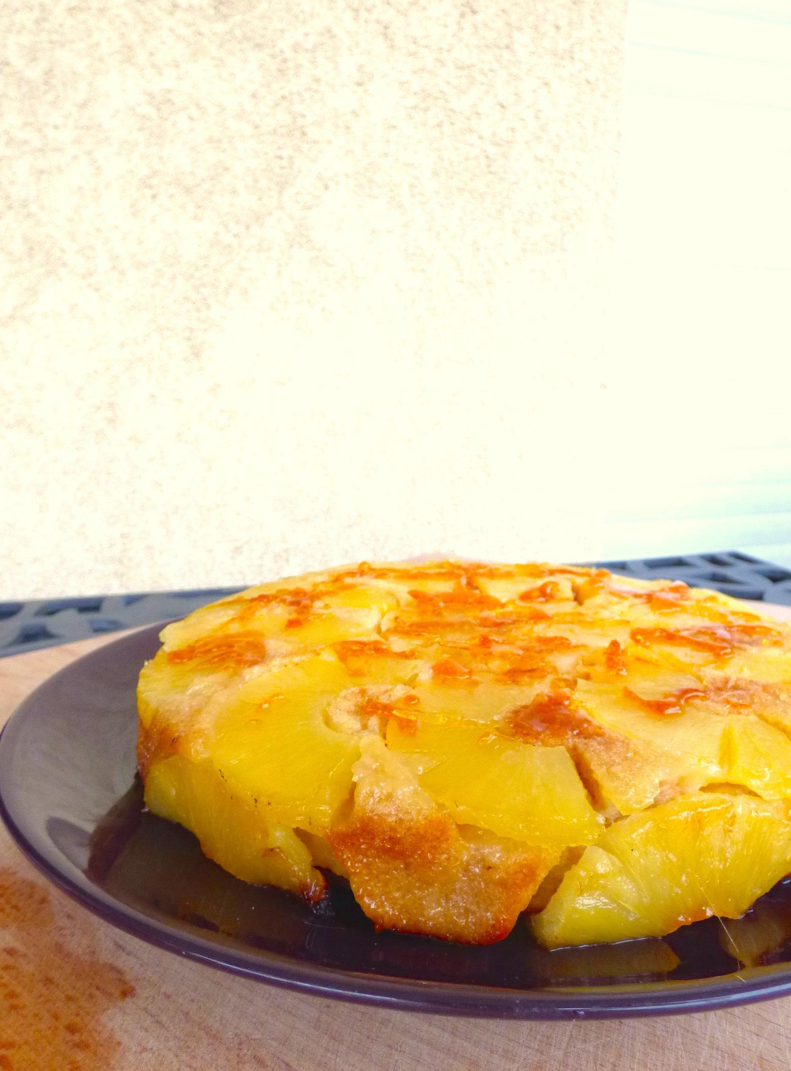 gateau rhum ananas
